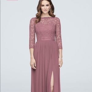 NWT DAVIDS BRIDAL BRIDESMAID DRESS Color: Quartz